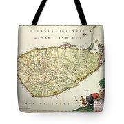 Antique Map Of Ceylon Tote Bag by Nicolas Visscher