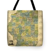 Antique Map Of Indianapolis By The Parry Mfg Company - Historical Map Tote Bag
