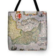 Antique Map Of Ireland Tote Bag by  English School