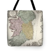 Antique Map Of Ireland Showing The Provinces Tote Bag by Johann Baptist Homann