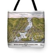 Antique Map Of Mystic Connecticut Tote Bag