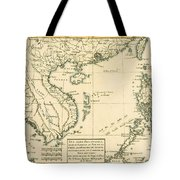 Antique Map Of South East Asia Tote Bag