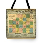 Antique Map Of The Mclean County - Business Advertisements - Historical Map Tote Bag