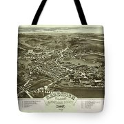 Antique Maps - Old Cartographic Maps - Antique Bird's Eye Map Of Sandwich, Massachusetts, 1884 Tote Bag