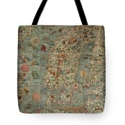 Antique Maps - Old Cartographic Maps - Antique Map Of Scandinavia In Latin, 1539 Tote Bag