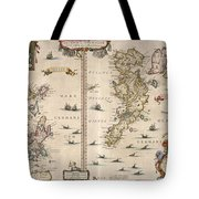 Antique Maps - Old Cartographic Maps - Antique Map Of Schetland And Orkney Islands - Scotland,1654 Tote Bag