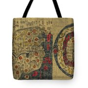 Antique Maps - Old Cartographic Maps - Antique Map Chinese Map Of The World, Ming Era Tote Bag