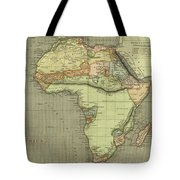 Antique Maps - Old Cartographic Maps - Antique Map Of Africa Tote Bag