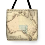 Antique Maps - Old Cartographic Maps - Antique Map Of Australia Tote Bag