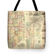 Antique Maps - Old Cartographic Maps - Antique Map Of Lawrence And Beaver Counties, 1860 Tote Bag