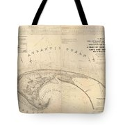 Antique Maps - Old Cartographic Maps - Antique Map Of Cape Cod, Massachusetts, 1836 Tote Bag
