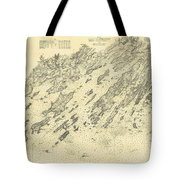 Antique Maps - Old Cartographic Maps - Antique Map Of Casco Bay, Maine, 1870 Tote Bag