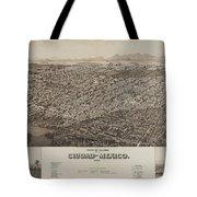Antique Maps - Old Cartographic Maps - Antique Map Of Ciudad, Mexico, 1890 Tote Bag