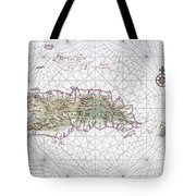 Antique Maps - Old Cartographic Maps - Antique Map Of Hispaniola - Caribbean Island Tote Bag