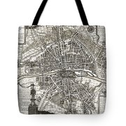 Antique Maps - Old Cartographic Maps - Antique Map Of Paris, France, 1643 Tote Bag