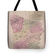 Antique Maps - Old Cartographic Maps - Antique Map Of Sudbury, Canada, 1875 Tote Bag