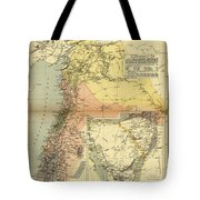 Antique Maps - Old Cartographic Maps - Antique Map Of Syria, 1884 Tote Bag