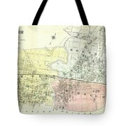 Antique Maps - Old Cartographic Maps - Antique Map Of The City Of Chester, England, 1870 Tote Bag