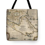 Antique Maps - Old Cartographic Maps - Antique Map Of The Strait Of Magellan, South America, 1635 Tote Bag