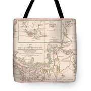 Antique Maps - Old Cartographic Maps - Antique Map Of The Strait Of Magellan, South America, 1787 Tote Bag