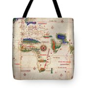 Antique Maps - Old Cartographic Maps - Antique Map Of The World, 1502 Tote Bag