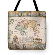Antique Maps - Old Cartographic Maps - Antique Map Of The World Tote Bag