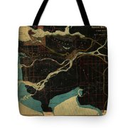 Antique Maps - Old Cartographic Maps - Antique Map Of Vancouver, New Westminster, Steveston Tote Bag