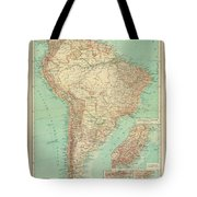 Antique Maps - Old Cartographic Maps - Antique Russian Map Of South America Tote Bag