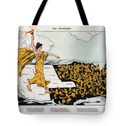 Antique Map Of The United States Of America - The Spirit Of Liberty - The Awakening, 1915 Tote Bag