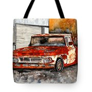 Antique Old Truck Painting Tote Bag