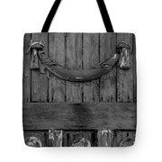 Antique Ornate Wood Panel Tote Bag