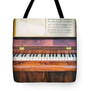 Antique Piano And Music Sheet Tote Bag