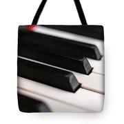 Antique Piano Keys Tote Bag
