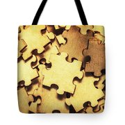 Antique Puzzle Of Missing Links Tote Bag
