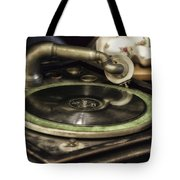 Antique Record Player 01 Tote Bag