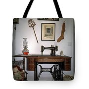 antique Singer sewing machine with treadle Tote Bag