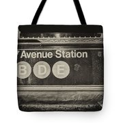 Antique Subway Entrance Tote Bag