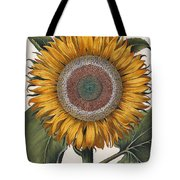 Antique Sunflower Print Tote Bag