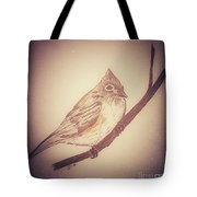 Antique Titmouse Tote Bag