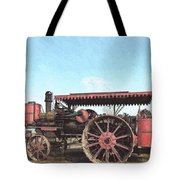 Antique Tractor - Rollag, Minnesota Tote Bag