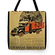 Antique Truck Poster Tote Bag