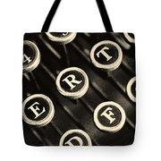 Antique Typewriter Keys Detail Tote Bag