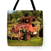 Antique Vehicle As A Planter Tote Bag