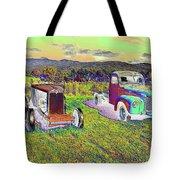 Antique Vehicles Tote Bag