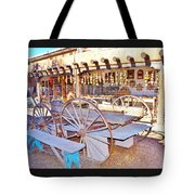 Old Santa Fe Antique Wagon And Culture Tote Bag