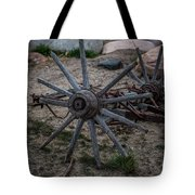 Antique Wagon Wheel Tote Bag