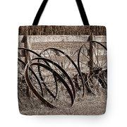 Antique Wagon Wheels I Tote Bag