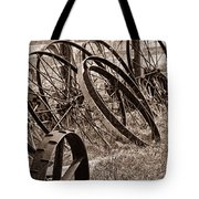 Antique Wagon Wheels II Tote Bag