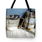 Antique Wooden Buckets Tote Bag