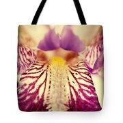 Antiqued Iris Tote Bag